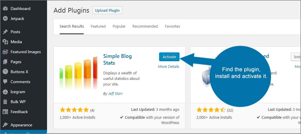 Simple Blog Stats Install