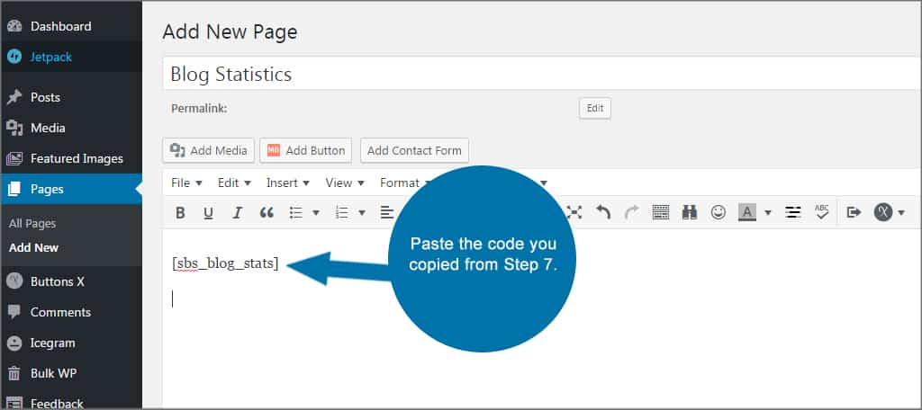 Simple Blog Stats Paste