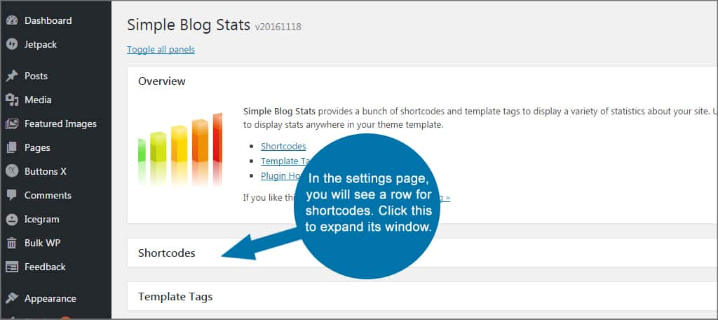 Simple Blog Stats Shortcodes