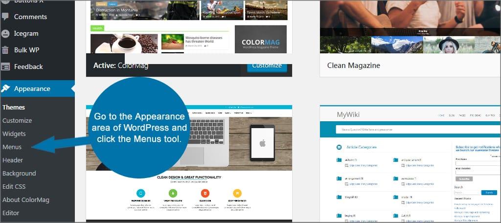 WordPress Menus Tool