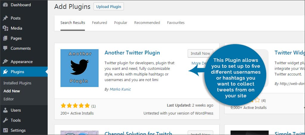 another twitter plugin