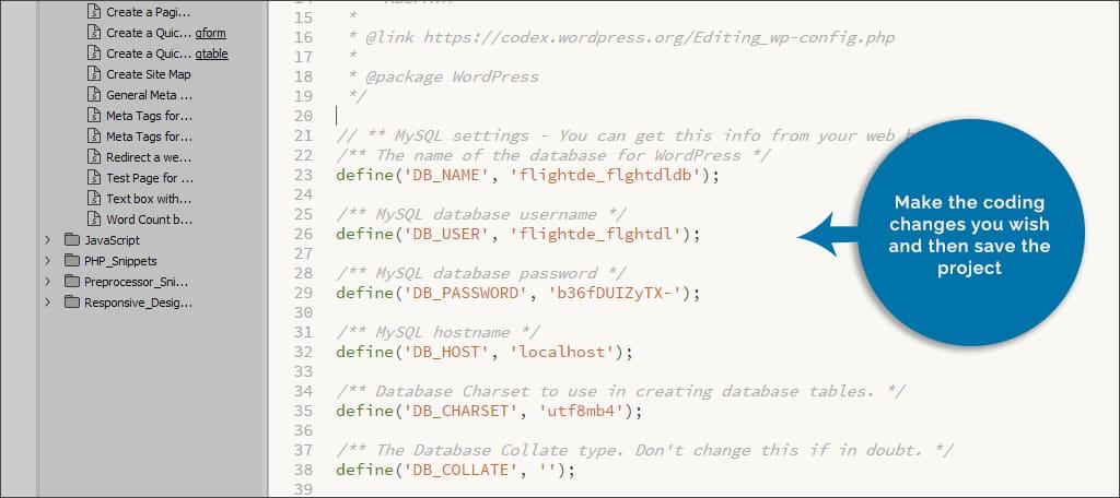 make coding changes