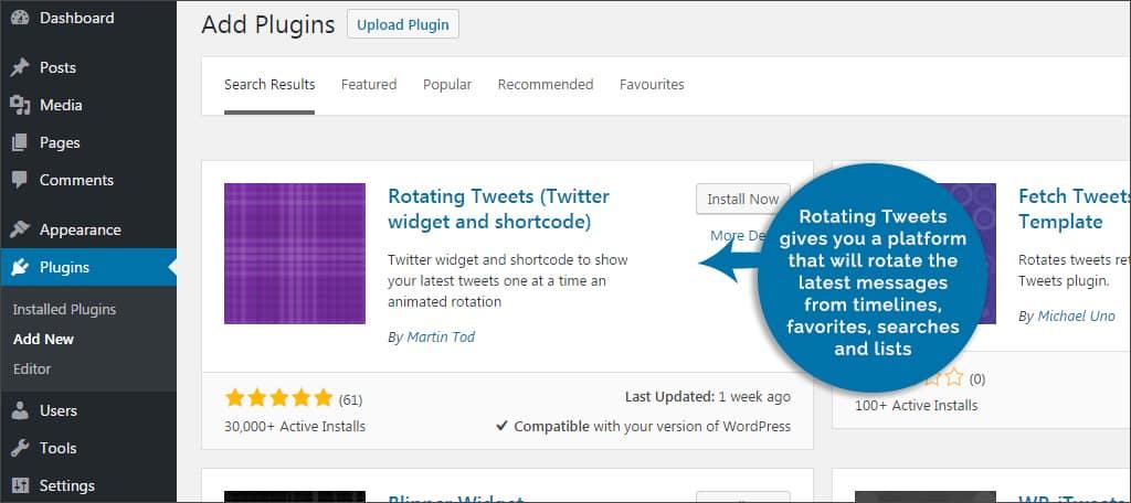 rotating tweets plugin