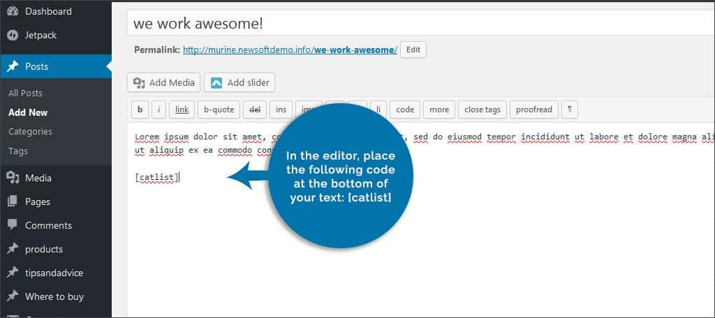 add code in editor