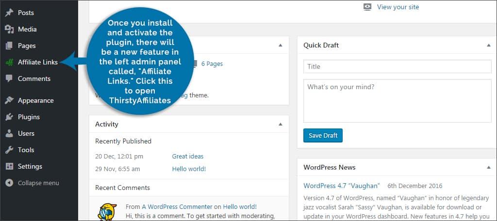 affiliate feature