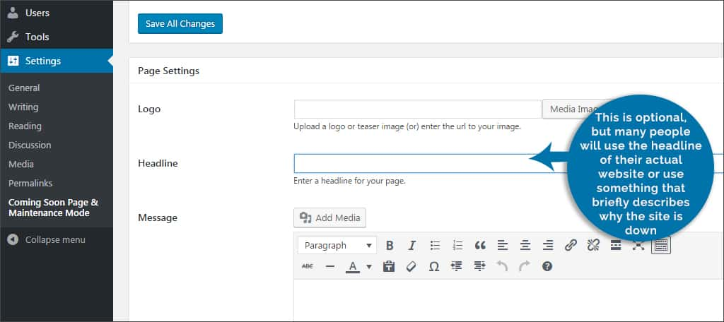 Step 7 Create A Message Youll Notice That The Text Field For Uses Same Editor Found When Creating Posts And Pages
