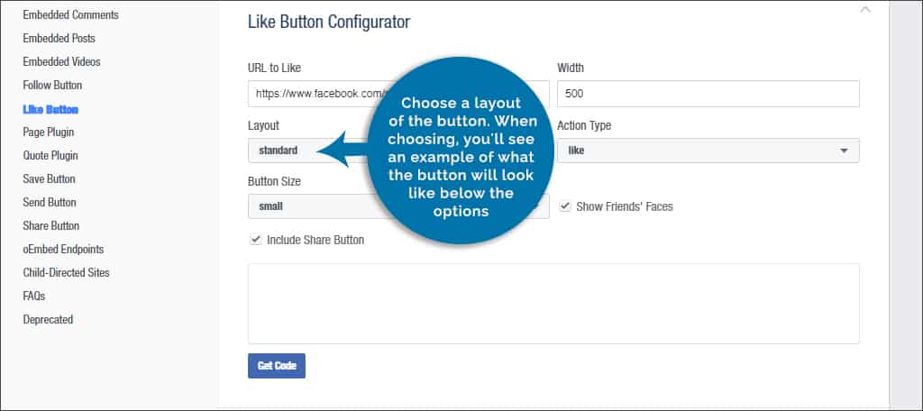 choose button layout