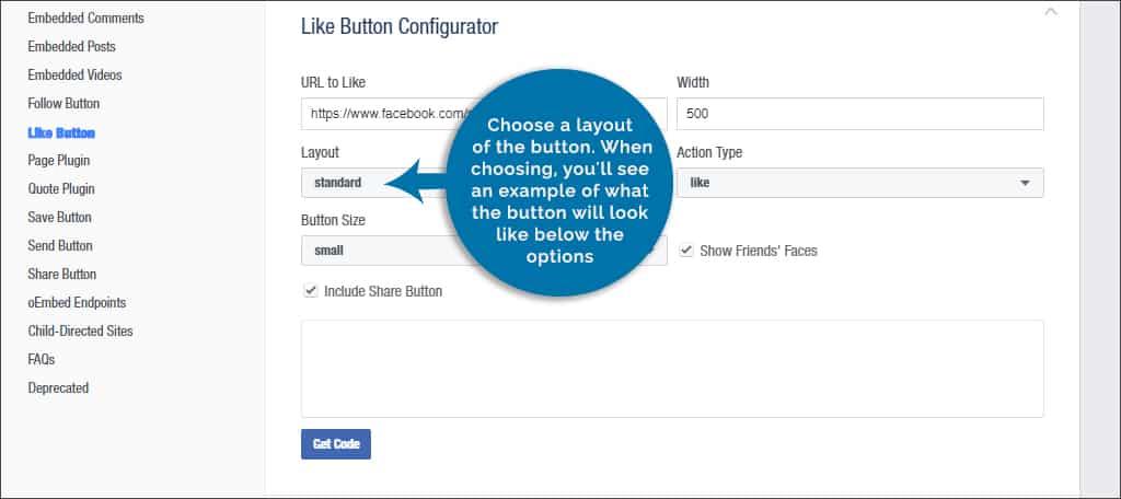 choose button layout
