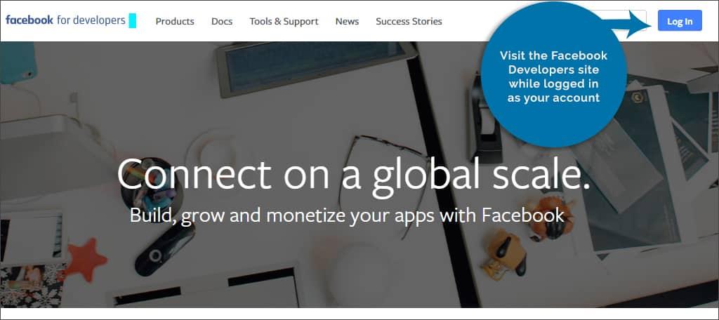 visit Facebook developer page