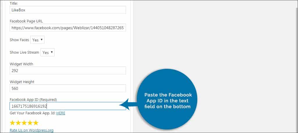 paste facebook id