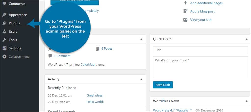Step 2: Add a new plugin and search for Coming Soon Page & Maintenance Mode.