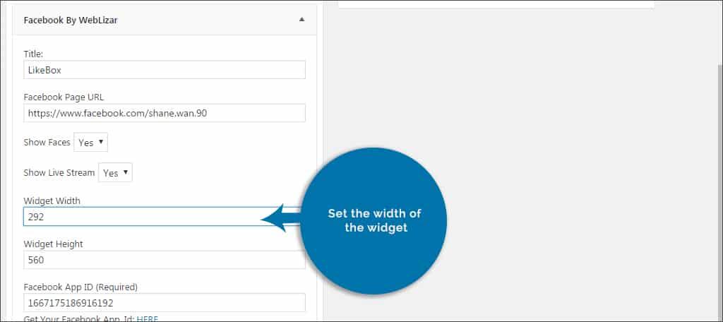 set widget width