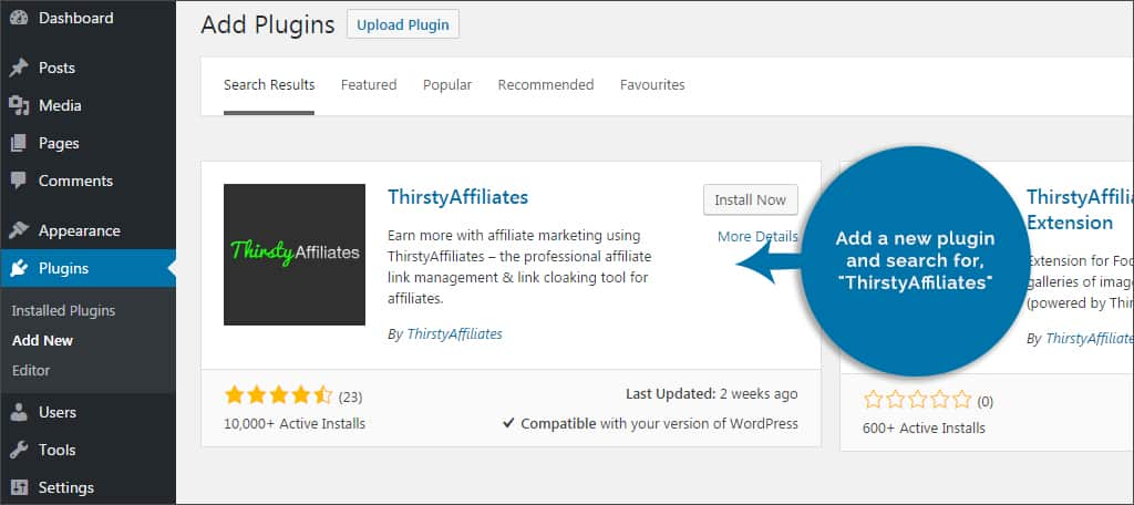 add thirsty affiliates