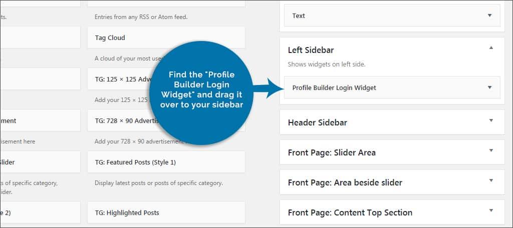 widget sidebar