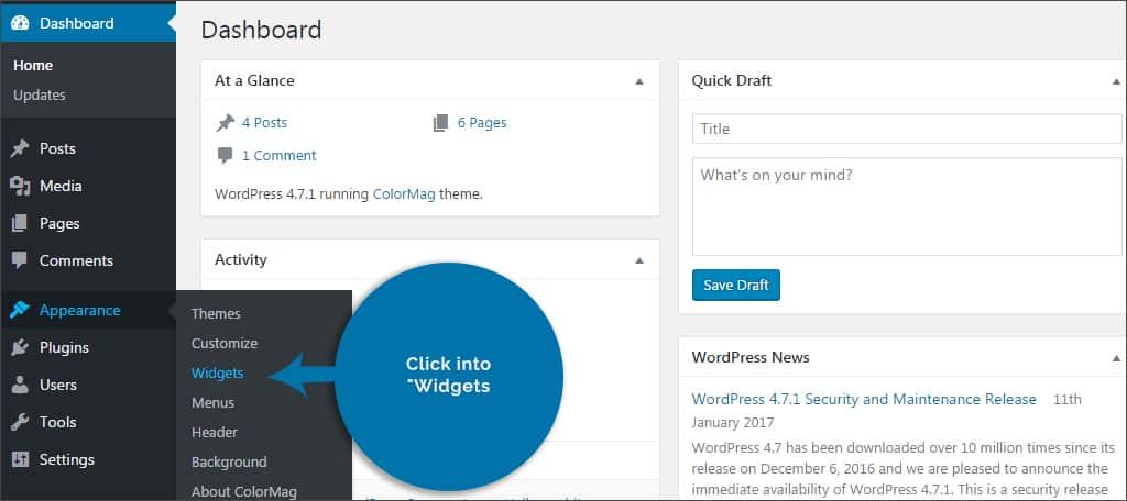 click widgets