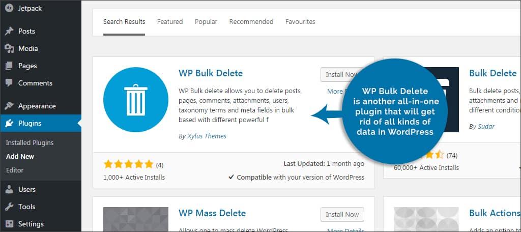 wp bulk delete