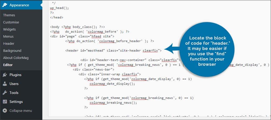 locate the block of code