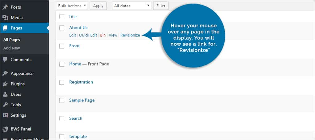 hover to find revisionize link