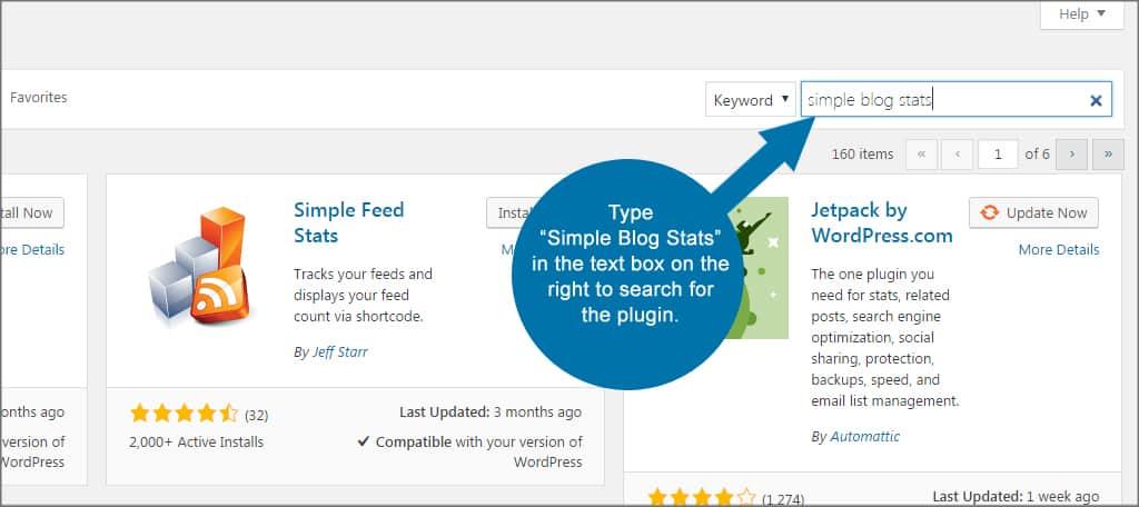 Simple Blog Stats Search