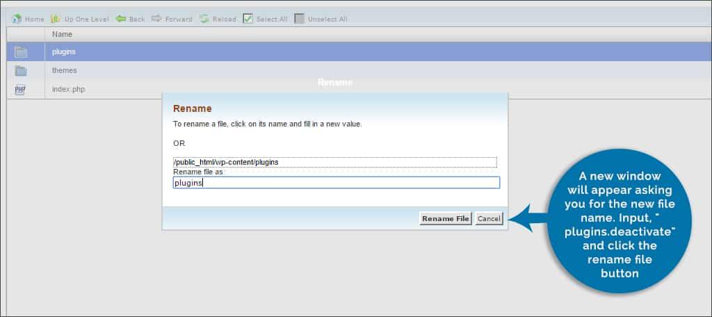 input plugins deactivate
