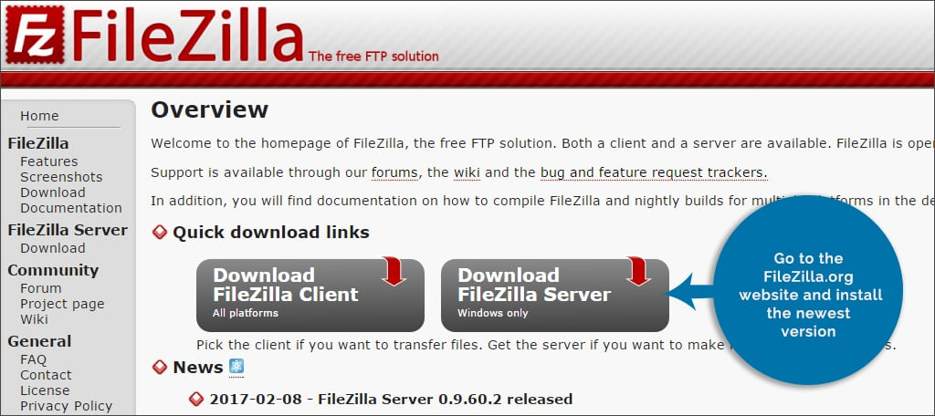 go to filezilla