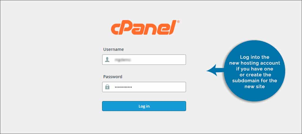 login hosting account cpanel