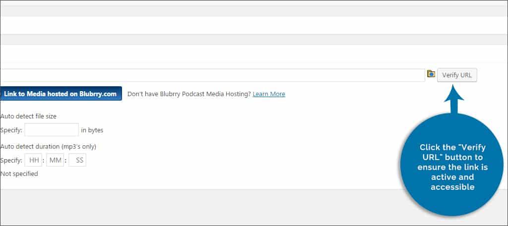 click verify url button