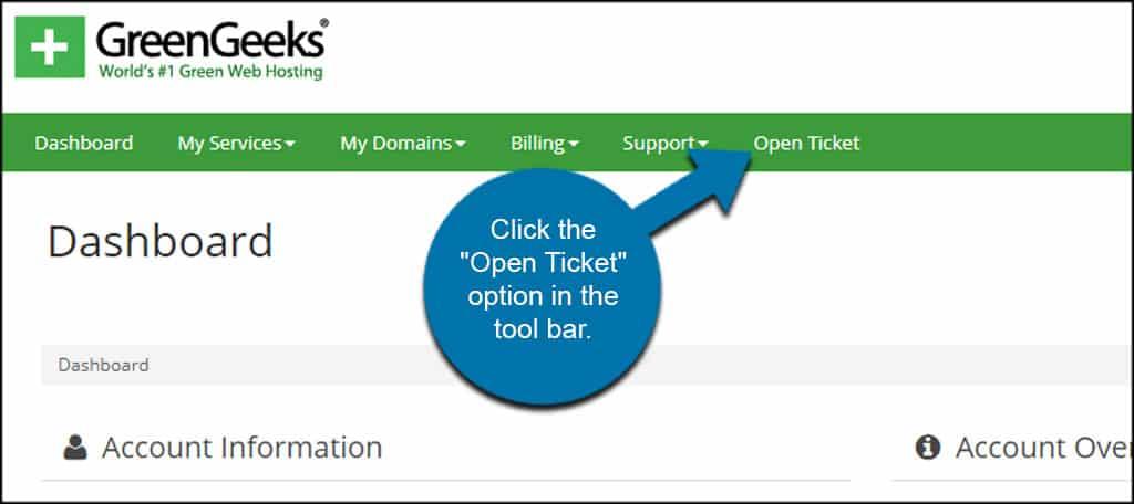 Open Ticket