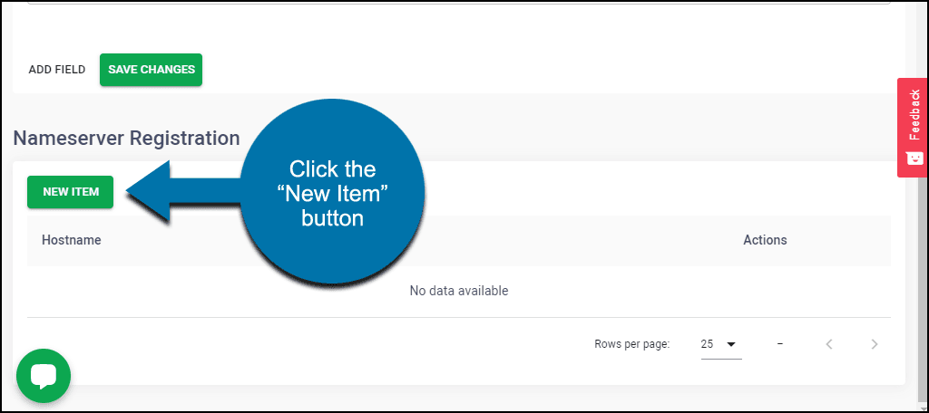 """click the """"New Item"""" button"""