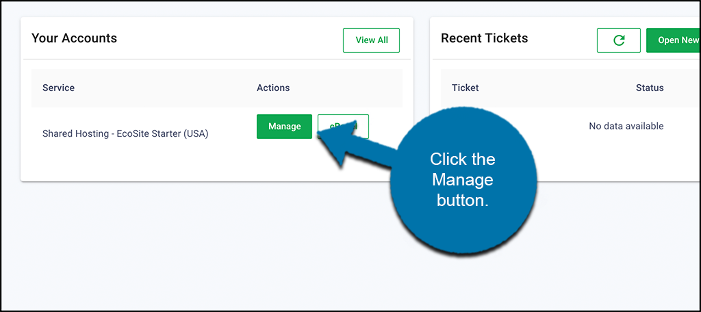 Click on Manage button