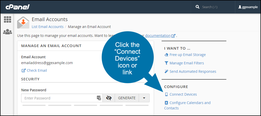 where to find email server configuration information step 3