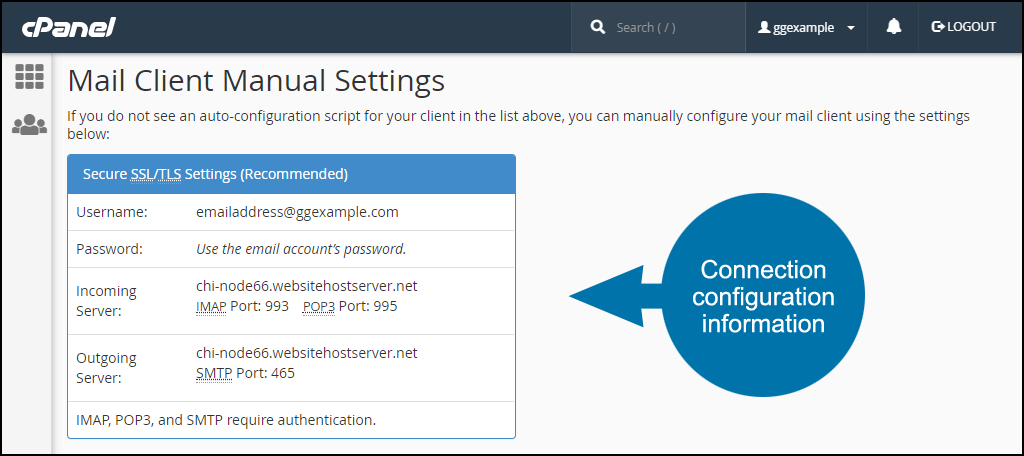where to find email server configuration information step 4