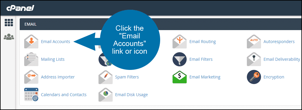 where to find email server configuration information step 1