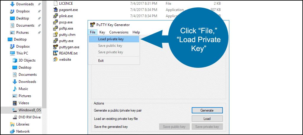 ssh private keys in cPanel step 11