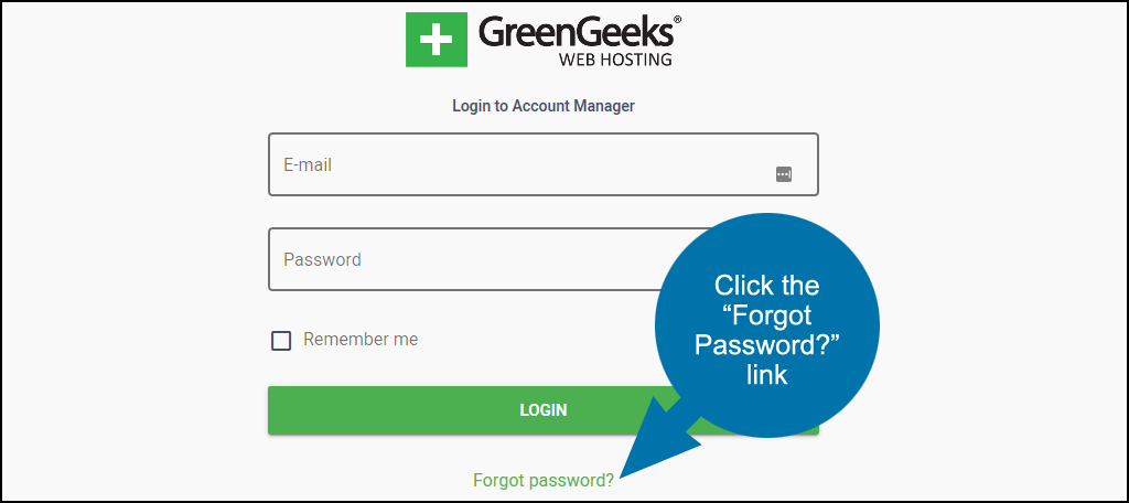 forgot password link