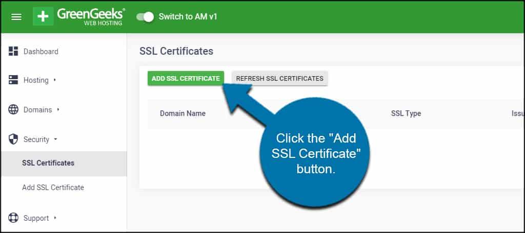 Add SSL Certificate