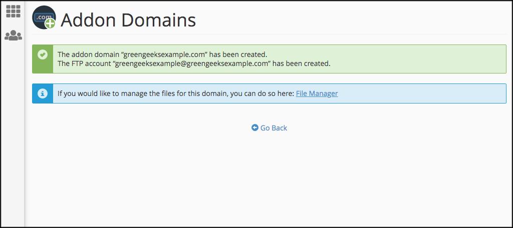 Domain Assign Success