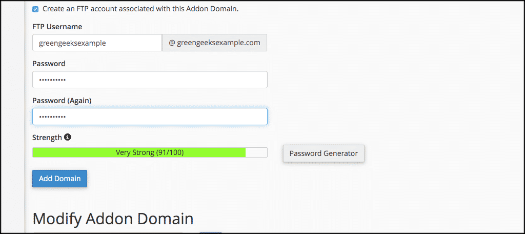 FTP Username