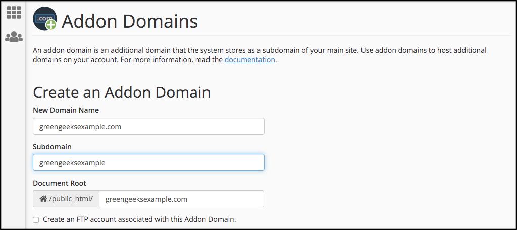 Fill In Domain Information