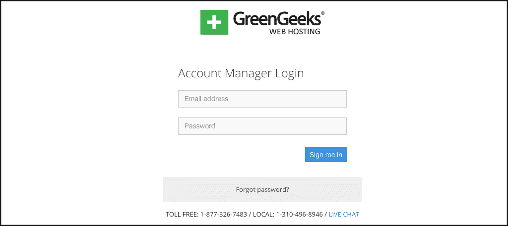 GreenGeeks Account Manager