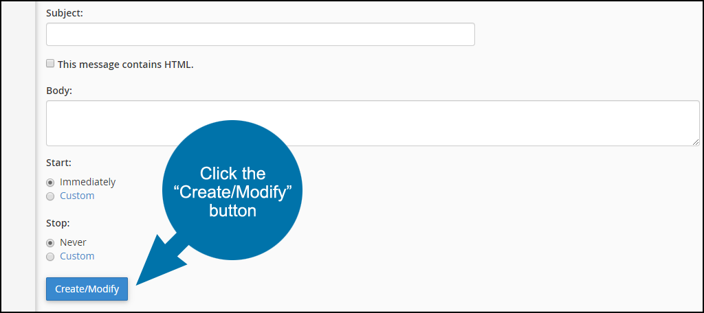 click the create/modify button