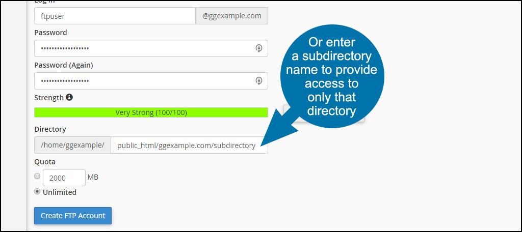 enter a subdirectory name