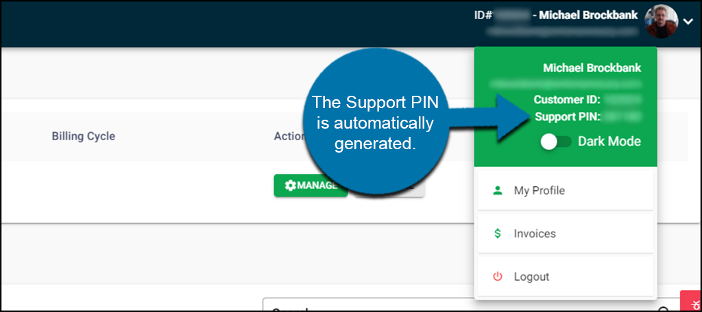 Find Your Support PIN