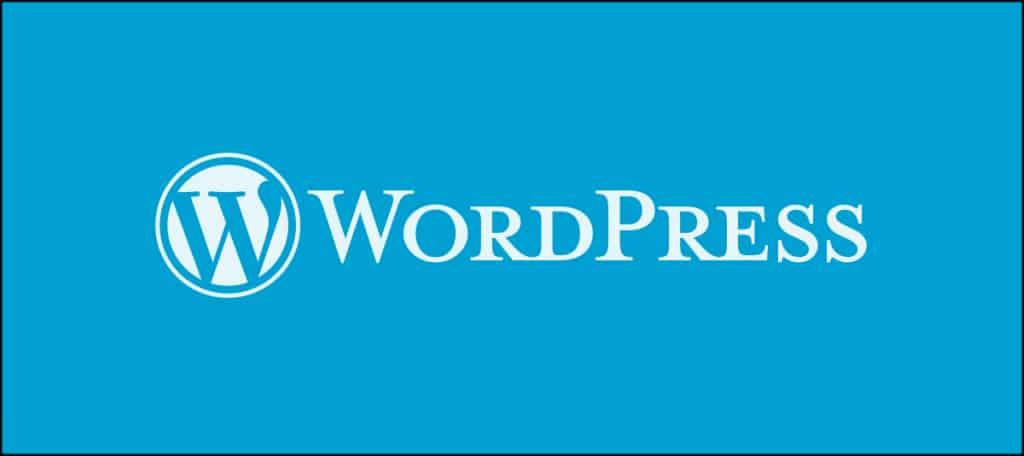 WordPress Blue Background