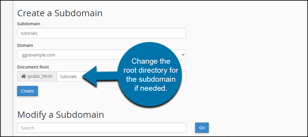Change Root Directory