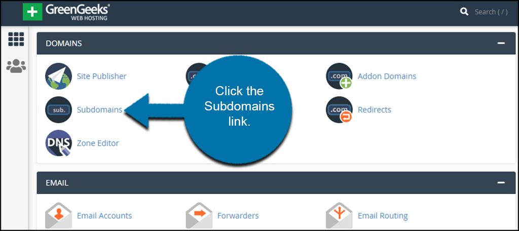 Open Subdomains