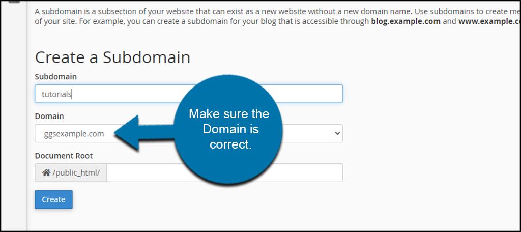 Use Correct Domain