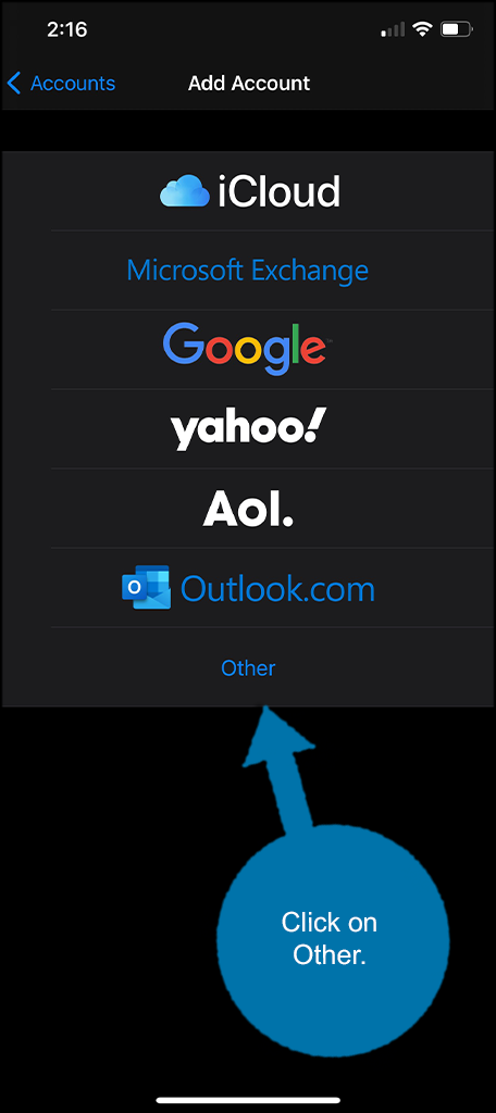 Click on other mail option
