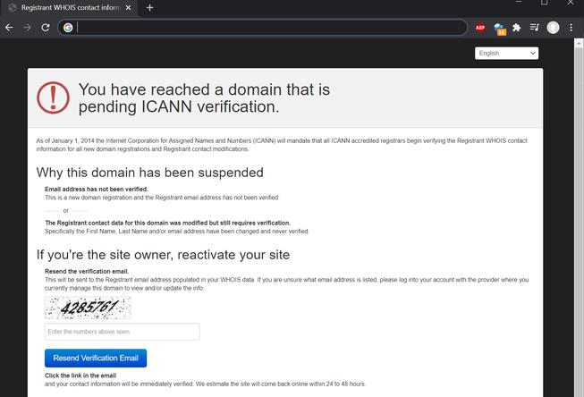 ICANN Verification