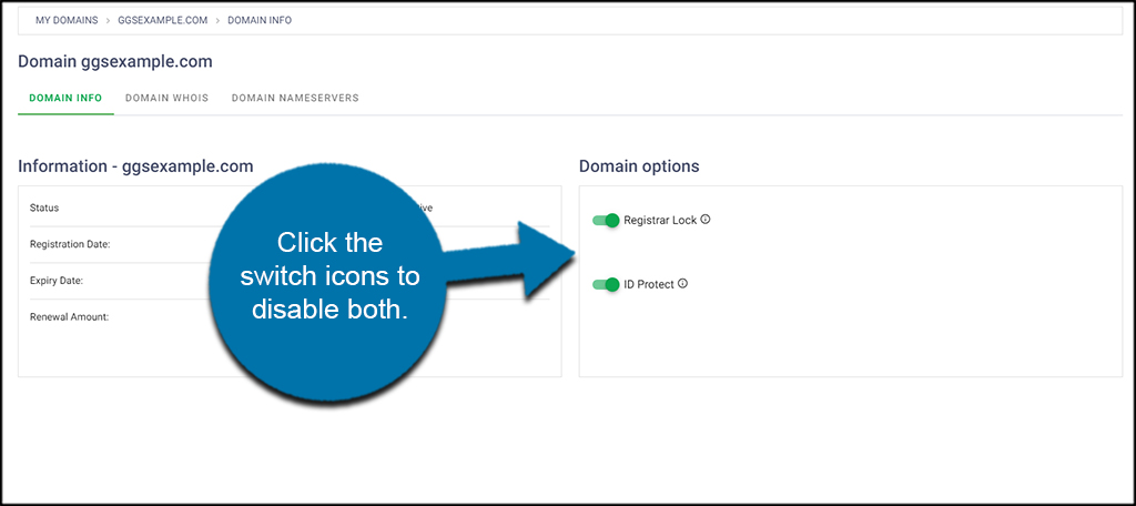 Disable Domain Options